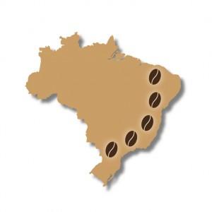 Kaffeeanbaugebiete in Brasilien